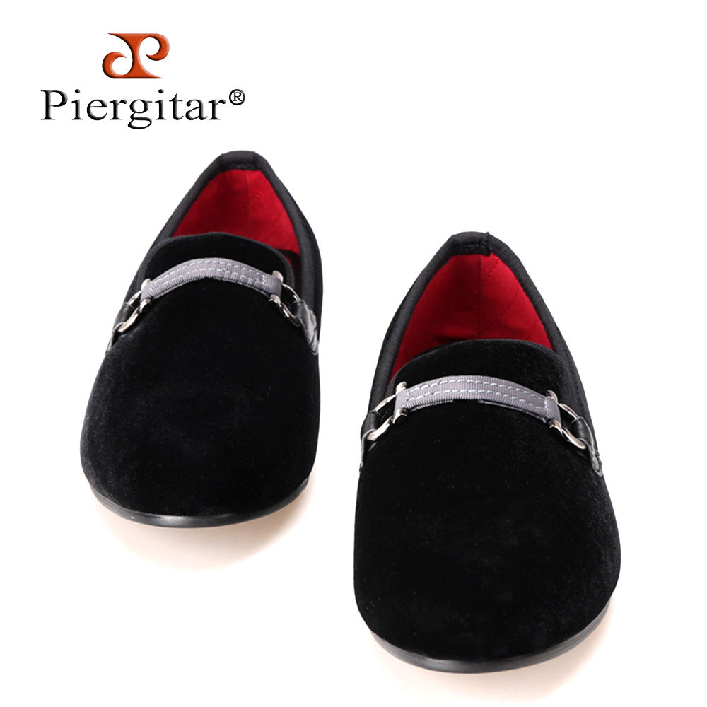 Fabric Buckle Black Men Velvet shoes Men Smoking Slipper Loafers Men Flats shoe Size US 4-14 Free shipping flower lattice velvet fabric men shoes men smoking slipper prom and banquet male loafers men flats size us 4 17 free shipping