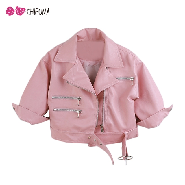 d057888c3323 chifuna Children Leather Jacket 2018 New Arrival Girls Boys Coats ...