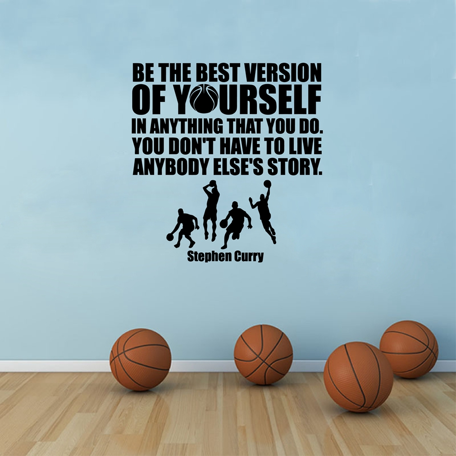 Stephen Curry Quotes Vinyl Wall Sticker Decals Sports