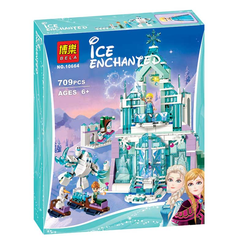 Lepin Pogo Bela 10664 Snow World Elsa Magical ice Castle Frozen Princess Girls Building Blocks Bricks Compatible legoe Toys 603pcs bela 10297 maula s ice mammoth stomper learn