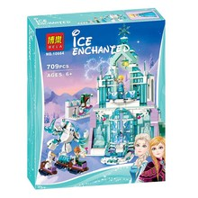 Lepin Pogo Bela 10664 Snow World Elsa Magical ice Castle Frozen Princess Girls Building Blocks Bricks Compatible legoe Toys