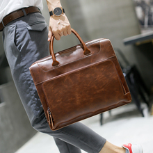 Brand Men's Briefcase Handbag Crazy Horse Pu Leather Messenger Travel Bag Business Men Tote Bags Man Casual Crossbody Briefcases 2016 pu leather large cover brand man briefcase computer laptop bag business tote messenger shoulder handbag men travel bags