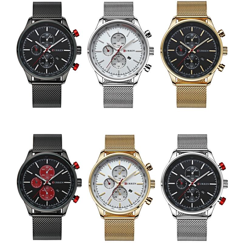 Fashion Watch men Luxury top brand steel men watch waterproof Wristwatch Men Clock quartz watch gold sports casual CURREN 8227