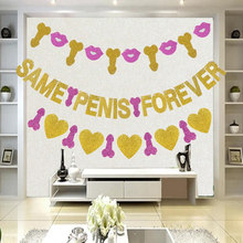 Taoup Team Bride Banners Bachelorette Hen Party Team Bride to Be Bridal Party Supplies Flags and Banners Wedding Love Favors DIY(China)