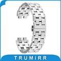 22mm de acero correa de acero inoxidable para pebble 2 smart watch band pulsera de la correa con todos los enlaces extraíbles negro plata