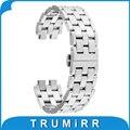 22mm pulseira de aço inoxidável para pebble aço 2 smart watch band pulseira wrist strap com todos os links removível preto prata