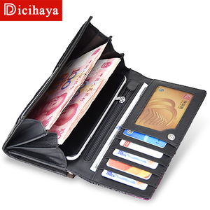 Image 4 - DICIHAYA New Arrive Ladies Wallets Leather Women Long Purse Flower Embossing Female Hasp Wallet Money Cards Purse Phone Bag