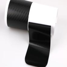 4Pcs Universa 4D 3D Black Carbon Fiber Car Scuff Plate Door Sill Sticker for Panel Protection