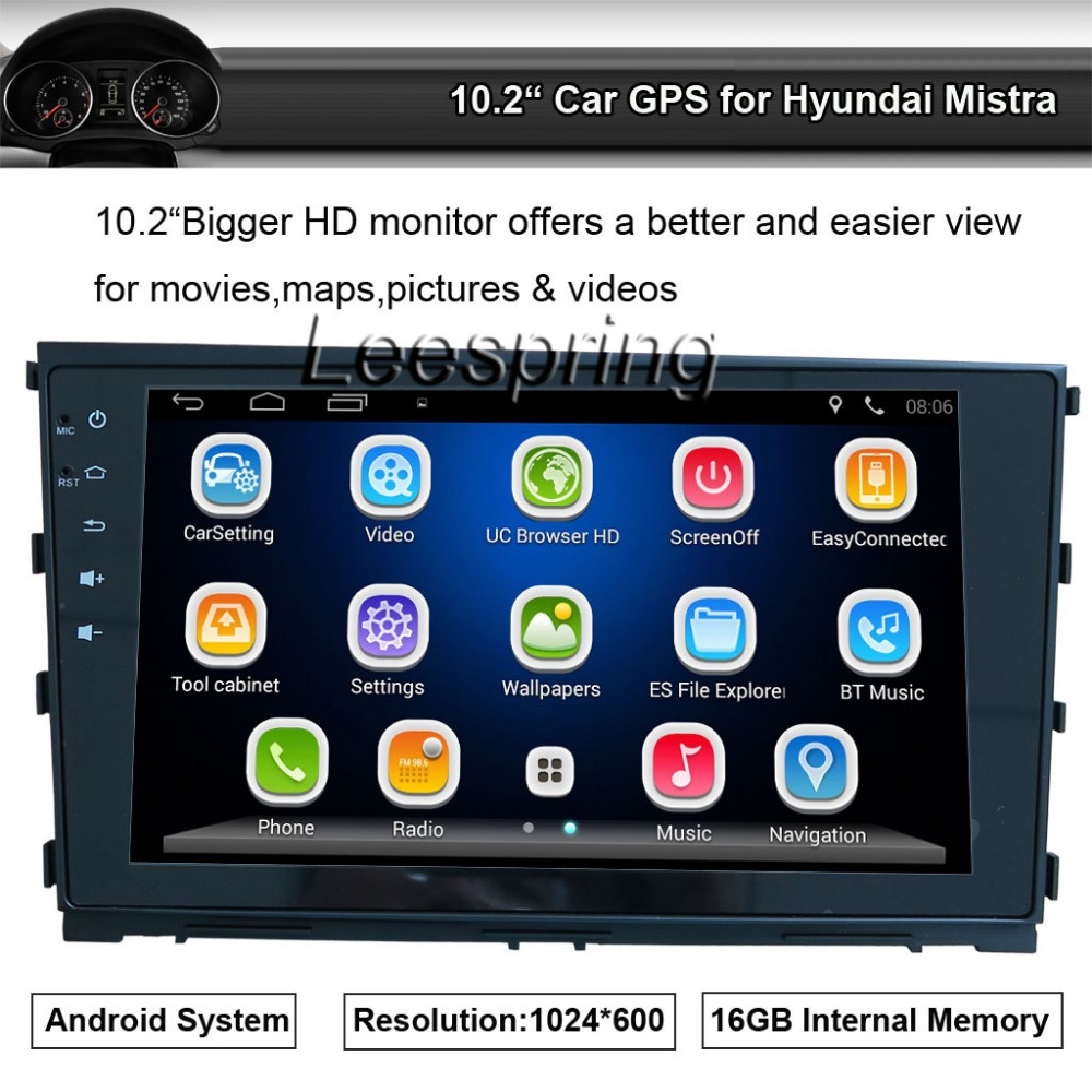 Android System Apply to Hyundai Mistra GPS Navigation Radio Stereo Player with Bluetooth Wifi Smartphone Mirror-link
