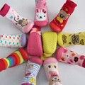 Varejo 1 par de meias de meias com sola de borracha crianças / crianças / meias