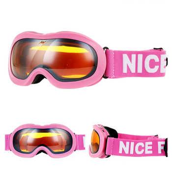 Brands Boys Girls Ski Goggles Kids Snowboard Eyewear Double Lens UV400 Anti-fog Skiing Mask Glasses Children Snow Skate Winter