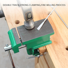 Cast Iron Multifunctional Jewelers Vice Clamp-On Bench Vise With Large Anvil Hobby Clamp On Table Bench Vise Mini Hand Tool