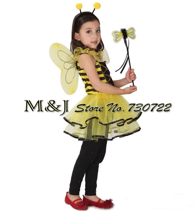 edfadbbcca3fe US $15.61 29% OFF|Free shipping!!Bee female children suit Halloween Cosplay  costume kindergarten stage performance clothing on Aliexpress.com | ...