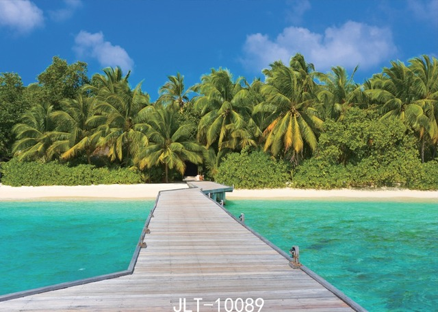 Sahil 3d Name Wallpaper Sjoloon 7x5ft Blue Sky And Sea Photo Background Vinyl