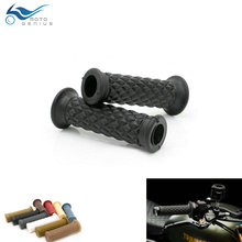 7/8 22mm  Motorcycle Handle Bar Grips Vintage Cafe Racer Hand