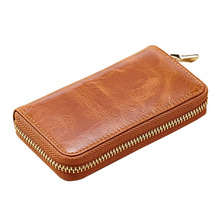 Weduoduo High Quality Key Wallet Vintage Coin purse Fashion Ring Casual Chain Car Women Men Genuine Leather Cow