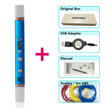 myriwell 3d pen pens,LED display,1.75mm pla abs Filament,3 d model Smart printer pen-3d magic