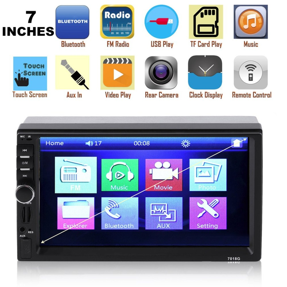 7 Inch 2 Din Car MP5 Player With GPS Navigator Bluetooth MP3 TV Player FM Radio 12V Touch Screen Music Player 7018B 7 inch lcd touch screen 2 din in dash bluetooth car auto vehicles dvd player stereo fm radio music mp3 player uk plug 7018b