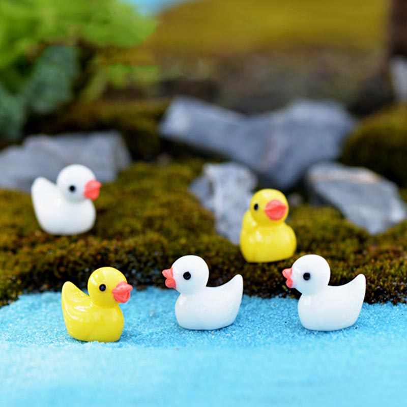 Sale 1/5PCS/Set Horse DIY Dolphin  Garden Figurines Resin Microlandschaft Setting Miniatures Duck Mini Kawaii  Chicken Swan