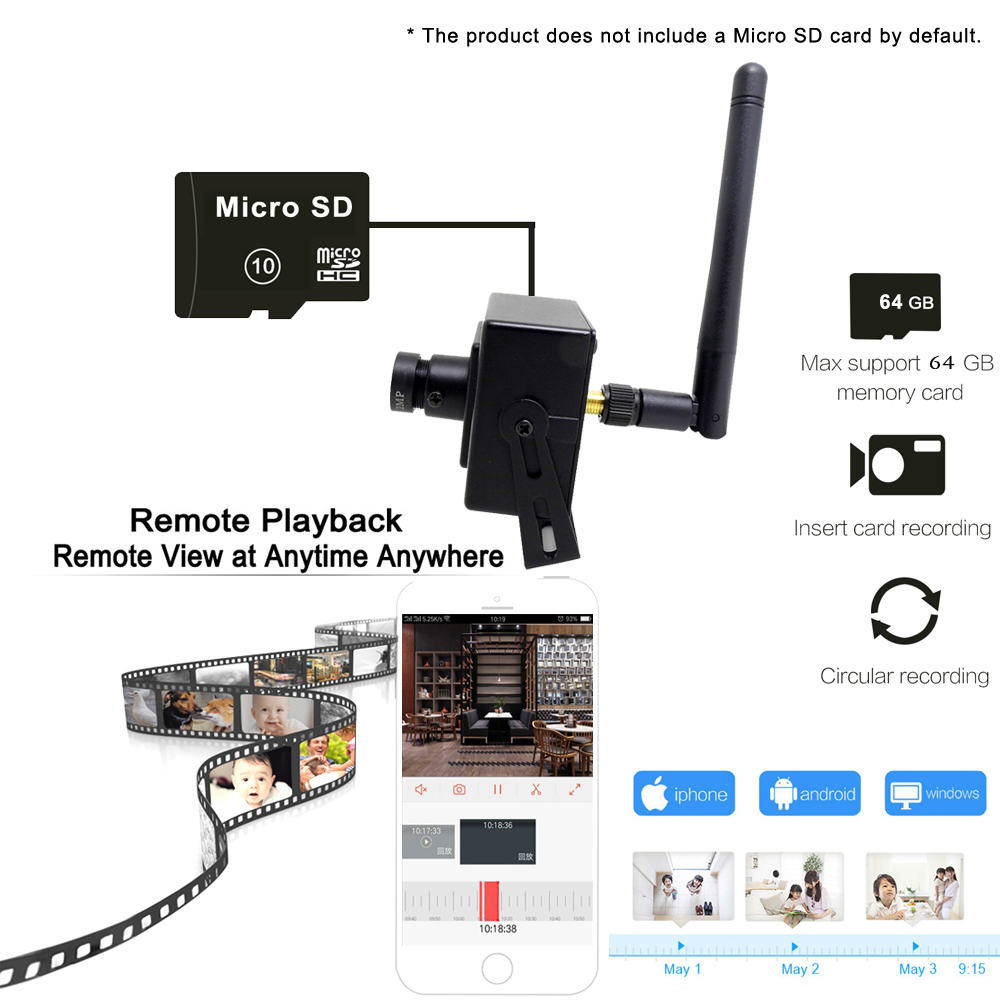 Image 5 - Mini Camera1080P HD 960P 720P WIFI Camera Home Security Wireless Audio Micro IP Cam CCTV Surveillance Support Micro Sd SlotSurveillance Cameras   -