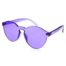 Fashion Women Rimless Sunglasses Transparent Shades Sun Glasses Female Cool Candy Color UV400 Eyewear Oculos De Sol #233117