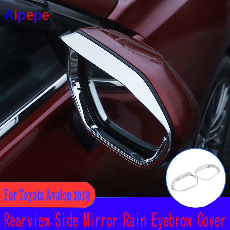 For Toyota Avalon 2019 Car Rearview Mirror Cover ABS Chrome Rain Eyebrow Trim Auto Rear View Mirror Frame AccessoriesFor Toyota Avalon 2019 Car Rearview Mirror Cover ABS Chrome Rain Eyebrow Trim Auto Rear View Mirror Frame Accessories