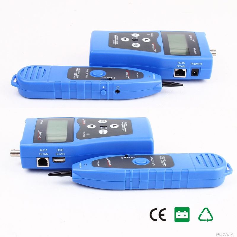 Free Shipping!! NOYAFA  NF-388 Network LAN Cable Tester Phone Wire Tracker LCD RJ45 BNC Scanner 8 Identifiers