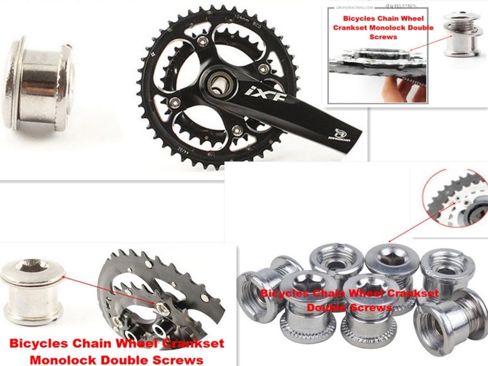 2 pc/lot bastidores de bicicleta perno platos de acero tuerca de ...