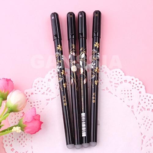 Vintage erasable gel pens 0.5mm Flower series writing pen Ofs