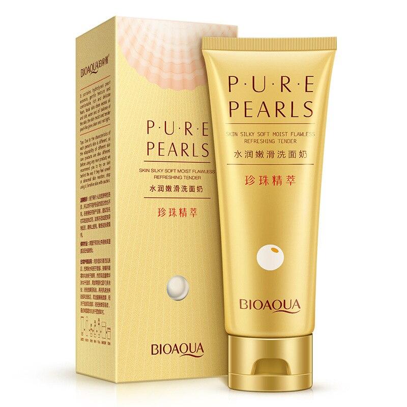 Limpeza 100g bioaqua natural pearl extracts Ingredient : Natural Pearl Extract Glycerin.trehalose.sodium Laureth Sulfate