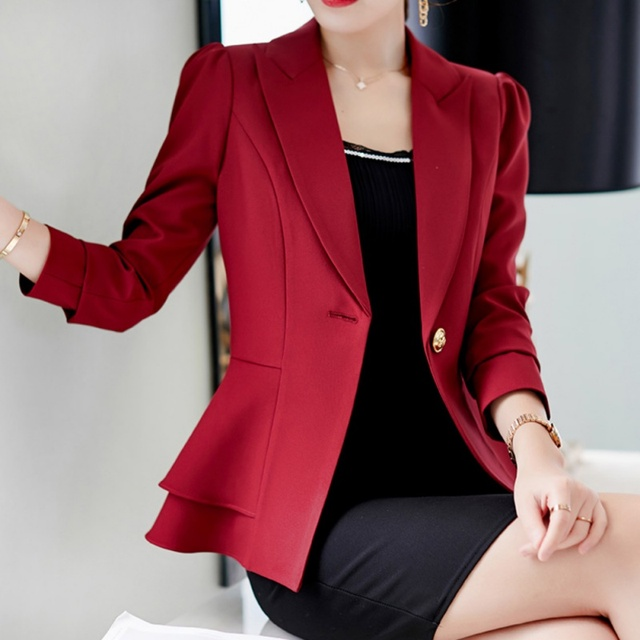 Ladies Blazer Long Sleeve Blaser Women Suit jacket Female Feminine Blazer Femme  Blue White Black Blazer Autumn
