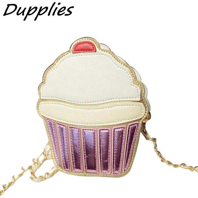 f6c6c9bac78dd fondhere Cupcake Mini Ice Cream Pattern Women Messenger Bag Girls Coin Purse  Lady shoulder bags women