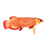 Free Shipping Gold Arowana 67 Cm Super Size Plush Big Fish Cartoon Plush Toys Stuffed Animals
