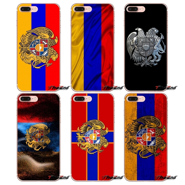 8cafaa979e3 For iPhone X 4 4S 5 5S 5C SE 6 6S 7 8 Plus Samsung Galaxy J1 J3 J5 J7 A3 A5  2016 2017 Armenia Russia Eagle Wings Flag Phone Case