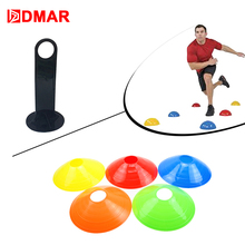 DMAR 10pcs Soccer Training Marker Football Roadblocks Sign Disc Bucket Road Cone Obstacles Speed Plate