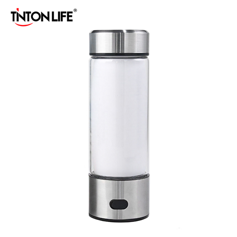 TINTON LIFE Hydrogen Water Generator Alkaline Maker Portable Water Ionizer Bottle Super Antioxidan Hydrogen-Rich Water CupTINTON LIFE Hydrogen Water Generator Alkaline Maker Portable Water Ionizer Bottle Super Antioxidan Hydrogen-Rich Water Cup