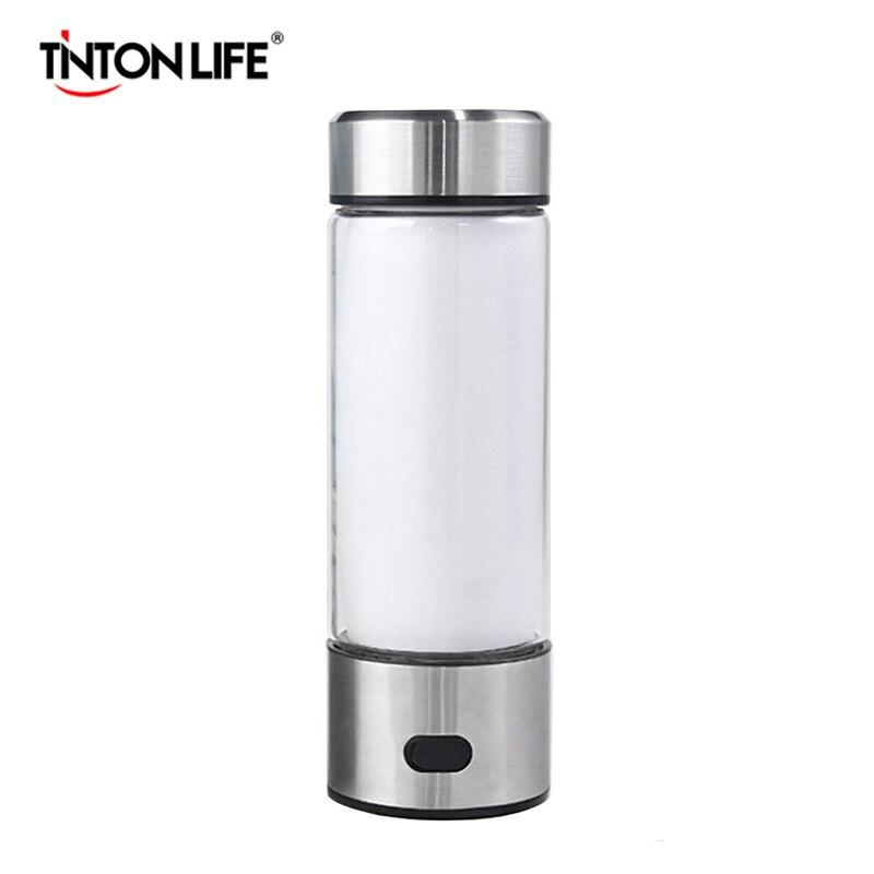 TINTON LIFE Hydrogen Water Generator Alkaline Maker Portable Water Ionizer Bottle Super Antioxidan Hydrogen Rich Water Cup
