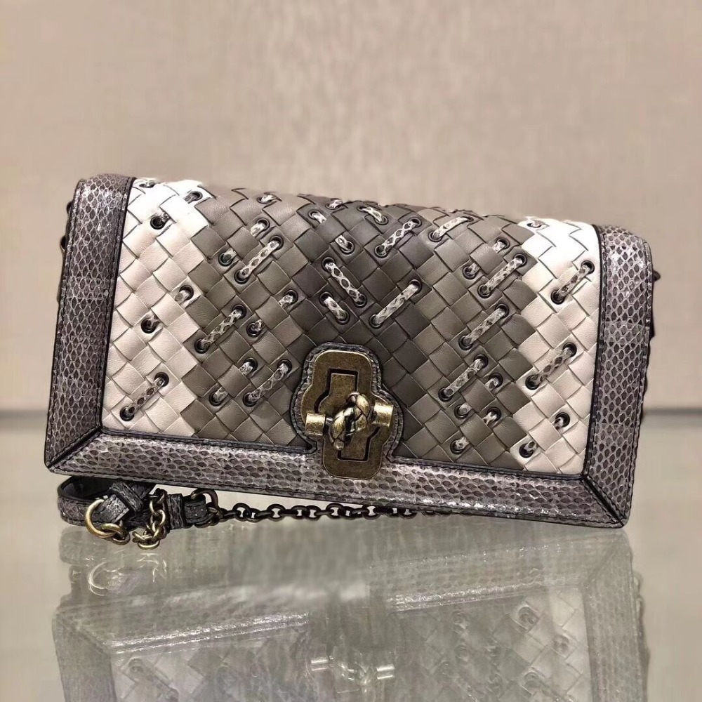 2019 Newest sheep skin with python skin knitting crossbody cover bags messenger bags designer chain shoulder