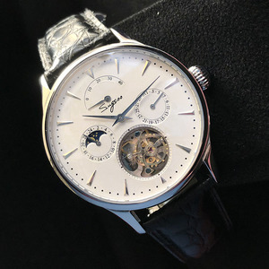 Image 4 - Многофункциональные Мужские механические часы ST8007 с полым турбийоном, маленькие часы с 24 часовым циферблатом, деловые часы для мужчин