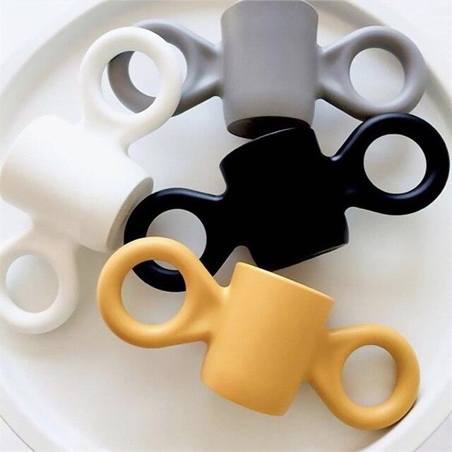 Grote Oren Cups Baby Anti-drop Fles voor Water Candy Kleur Kinderen Melk Cup Decoratie Volwassen Drink Cup Minimalisme mok Servies
