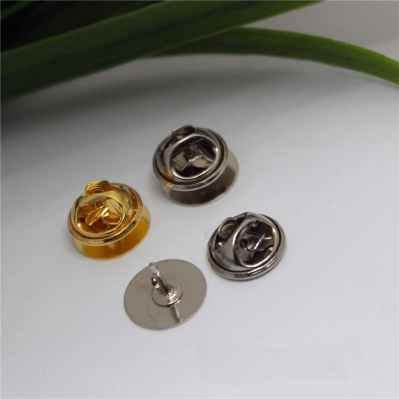 100 unids 12 MM Material de Cobre de alta calidad de Color de Oro/Plata Broche B