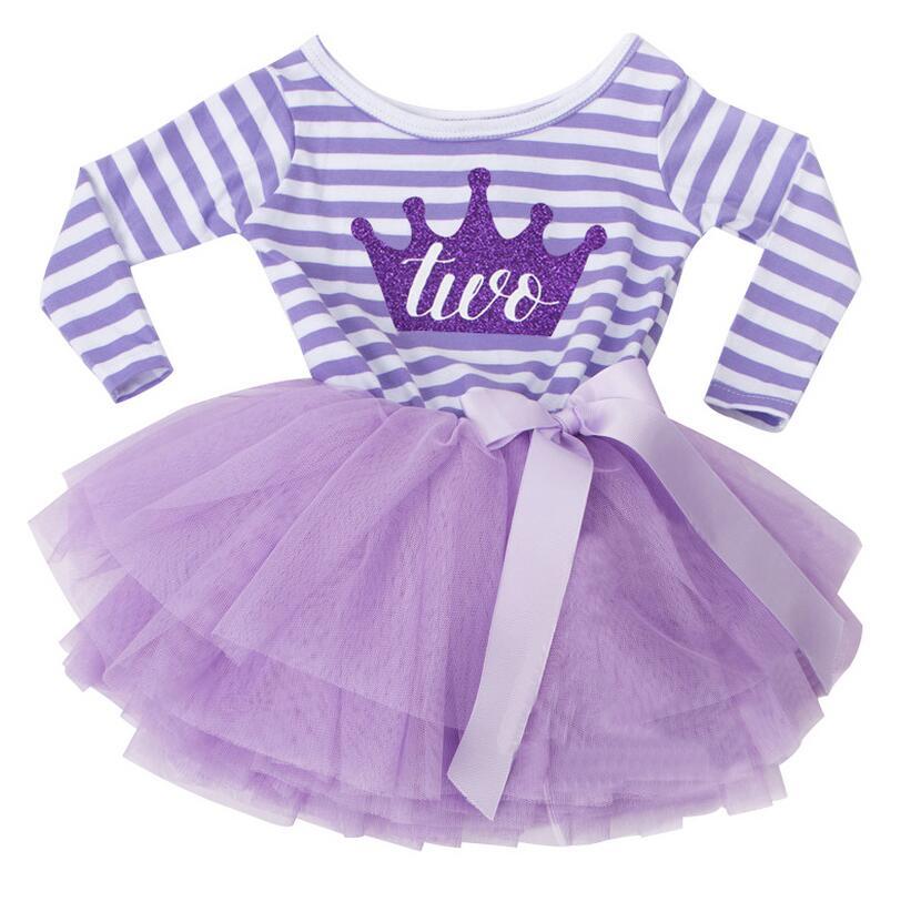 Herbst Baby Mädchen 1 2 Jahre Geburtstag Outfits Für Kleinkinder Kinder  Party Tragen Kleidung Streifen Kleinkind Mädchen Dress Prinzessin Tüll  Kleidung In ...