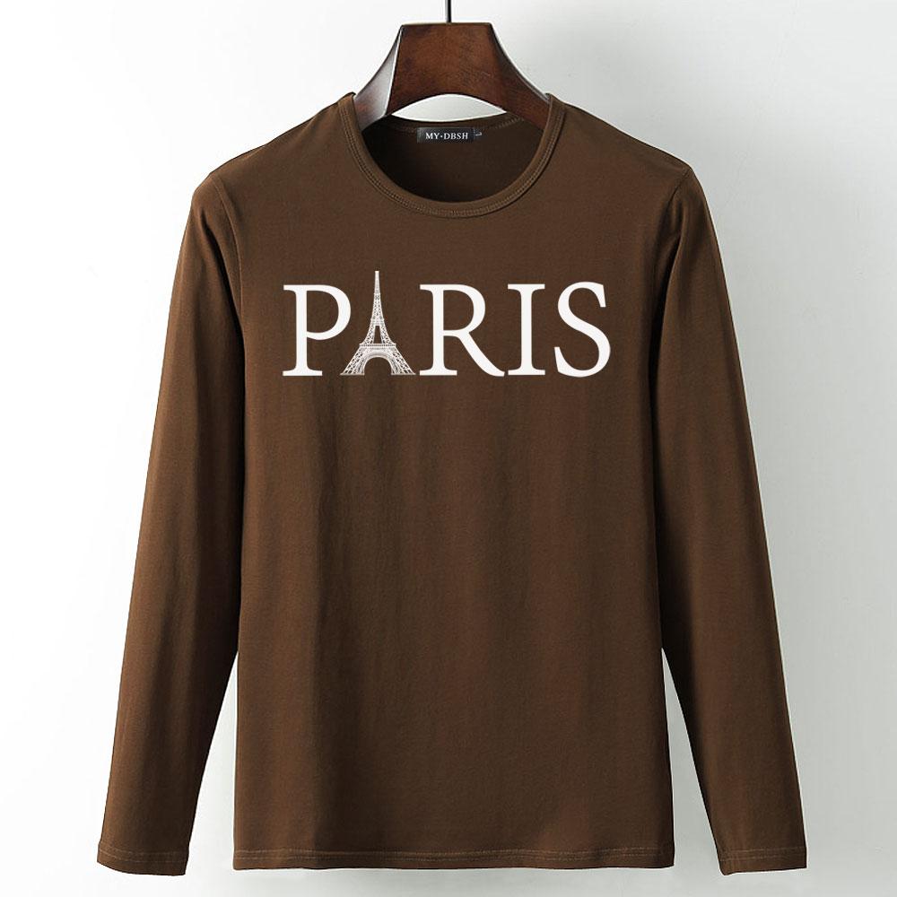 Neck Paris Shirts Round Men Tower Boys Printing Vogue T Women KJlcF1
