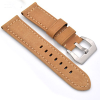 TJP Hot Thick Khaki Khaki Vintage Italy Calf Leather 22mm 24mm Watch Bands Strap Replace PAM111