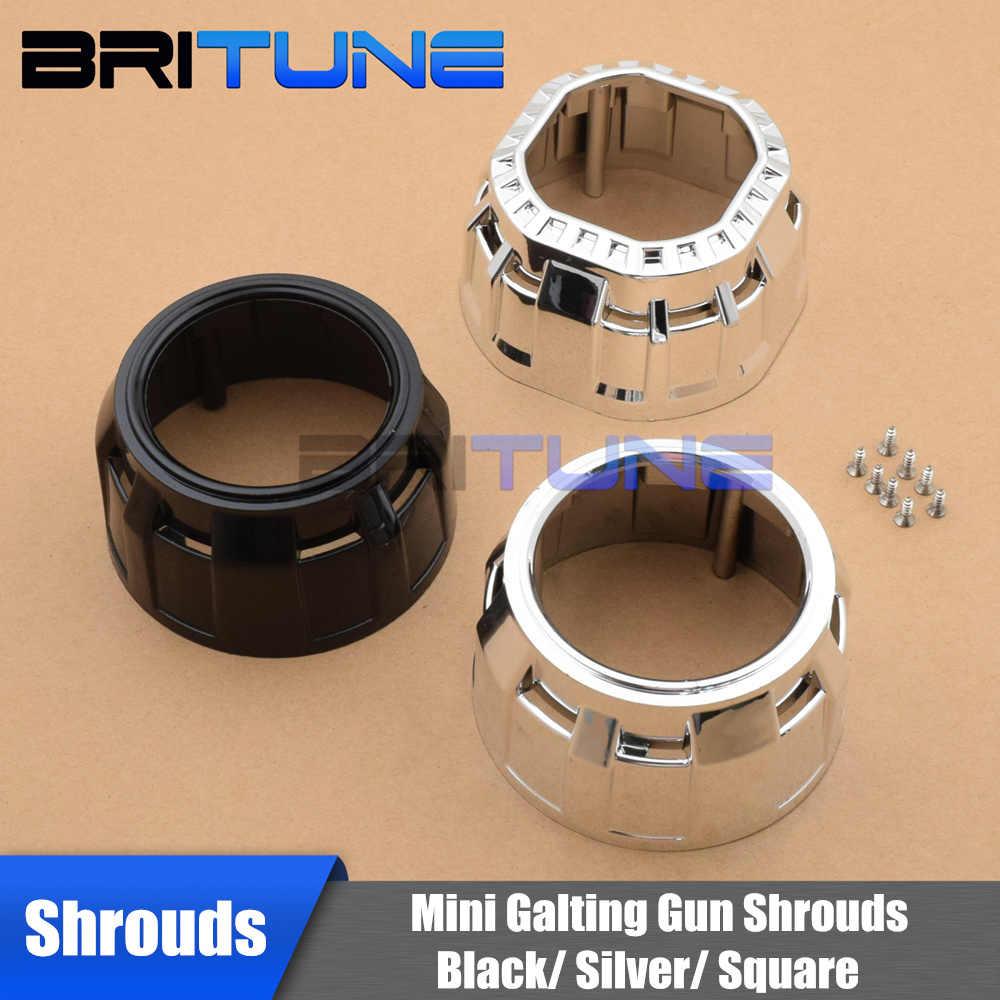"Bezels 2.5/""~3/"" Gatling Gun Xenon HID Projector Shrouds"