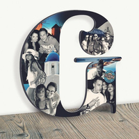 ustom Photo Collage Wooden letter Greece Photos on wood Holiday photos Picture Collage Personalized Gift Wedding Gift