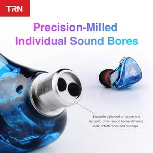 Image 5 - TRN IM2 1BA + 1DD Hibrid Kulak Kulaklık Koşu Spor Kulaklık DJ HIFI Kulaklık Özel Kulaklık Ayrılabilir Ayırmak 2Pin kablo