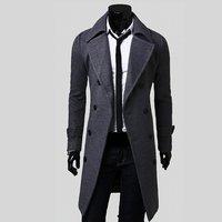 2018 мужское длинное пальто с отложным воротником, осенне-зимняя верхняя одежда, куртка-бомбер, большие размеры, Тренч, мужские уличные паровы...