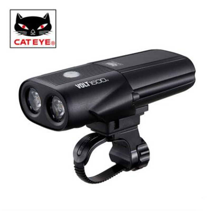 CATEYE VOLT1600 Lumens lamp headlights riding mountain bike night light cycling flashlight accessories equipment inbike 1000 lumen bicycle light usb rechargeable riding flashlight bike lamp led mountain bike equipment cycling accessories 310