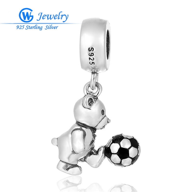 Sterling Silver Pendant Charms Animal & Football Charm Pulseira De Prata DIY Jewelry Making 925 Brand Gw Jewellery S459H20